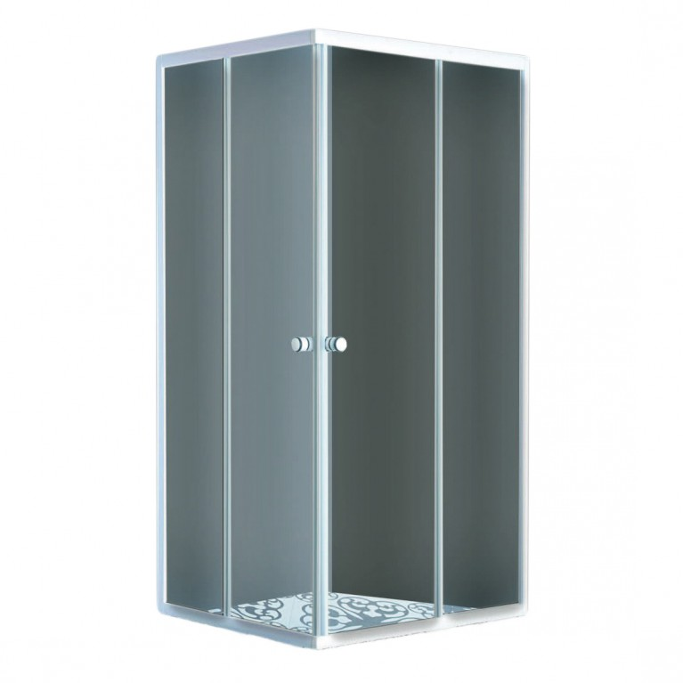 "AURORA  душ кабина квадратная, стекло (4мм) ""FABRIC"" 800*800*1800 (без поддона)"