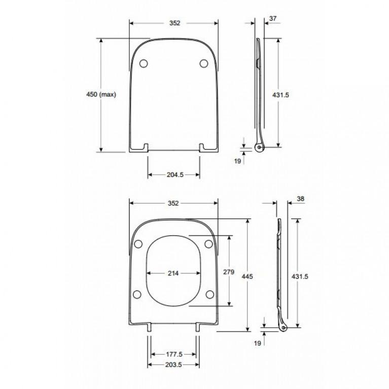 MODO сиденье для унитаза, антибактериальное, Soft Close (пол.) L30112000, фото 2