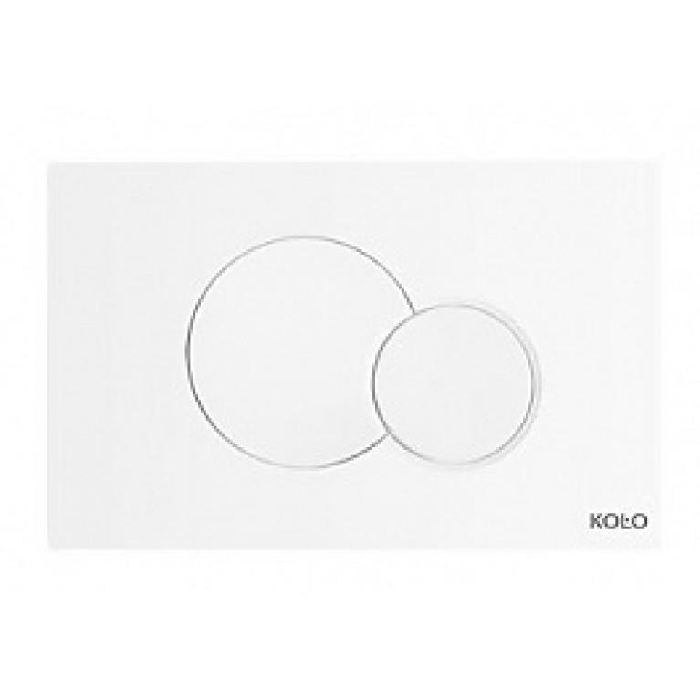 Купить ECLIPSE 2 спускная кнопка для TECHNIC GT 24*15*0,6, белая(пол.) у официального дилера KOLO Польша в Украине