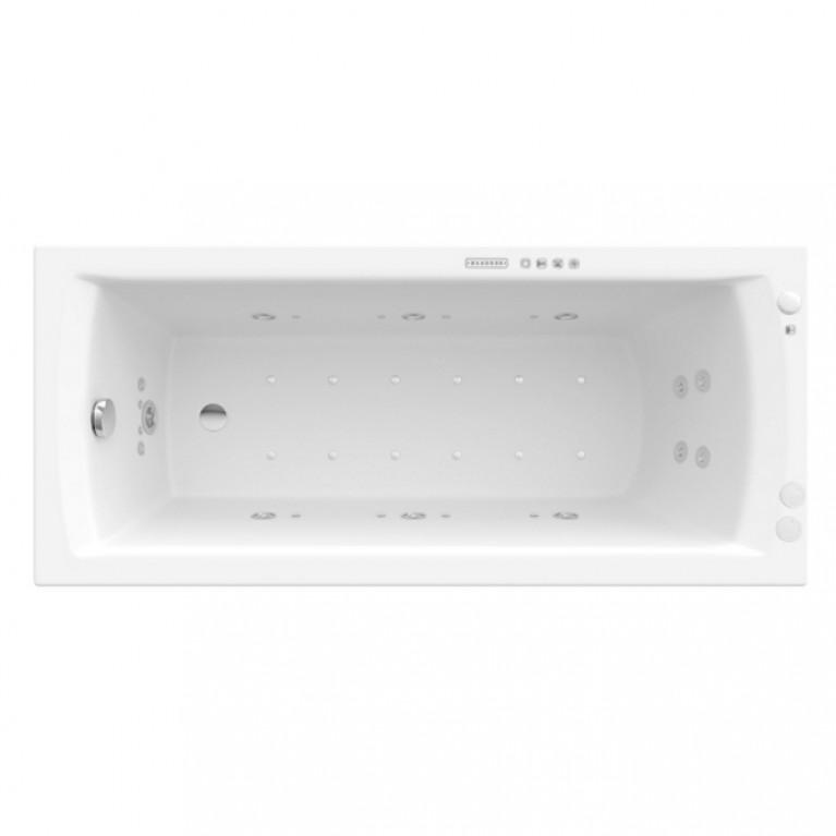LINEA XL ванна 170*75см, с maccажнoй системой EFFECTS GOLD OPTION, на раме, со сливом/переливом