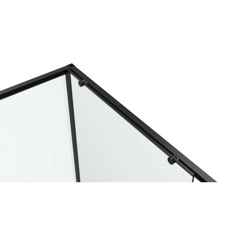 A LÁNY Душевая кабина прямоугольная, 800*1200*1950 мм, профиль черный 599-550/1 Black