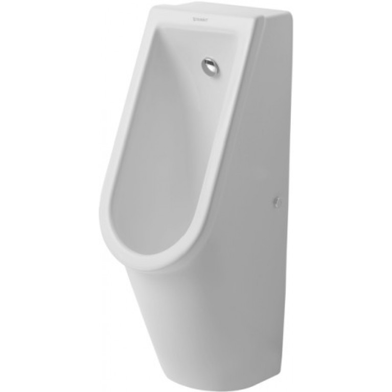 STARCK 3 писуар 24,5х30 см, подача воды сзади без смывного края (без мушки), фото 1