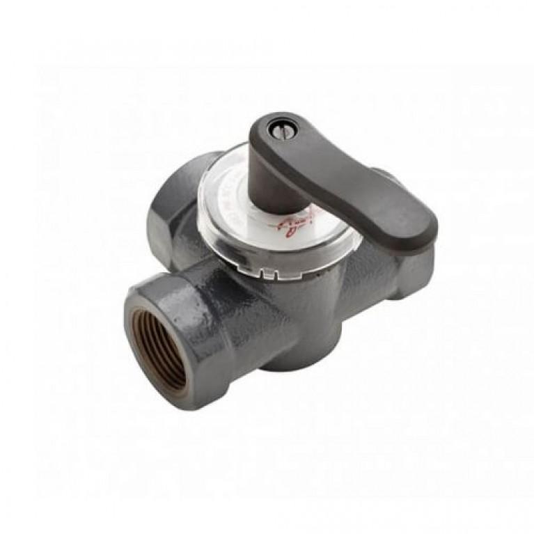 Поворотный трехходовой клапан Danfoss HRE3 PN6, DN40 внутренняя резьба