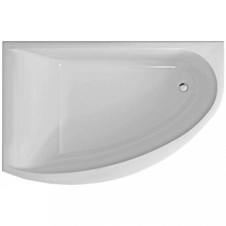 MIRRA ванна асимметричная 170*110 см, левая, с ножками SN8 и элементами крепления, белая