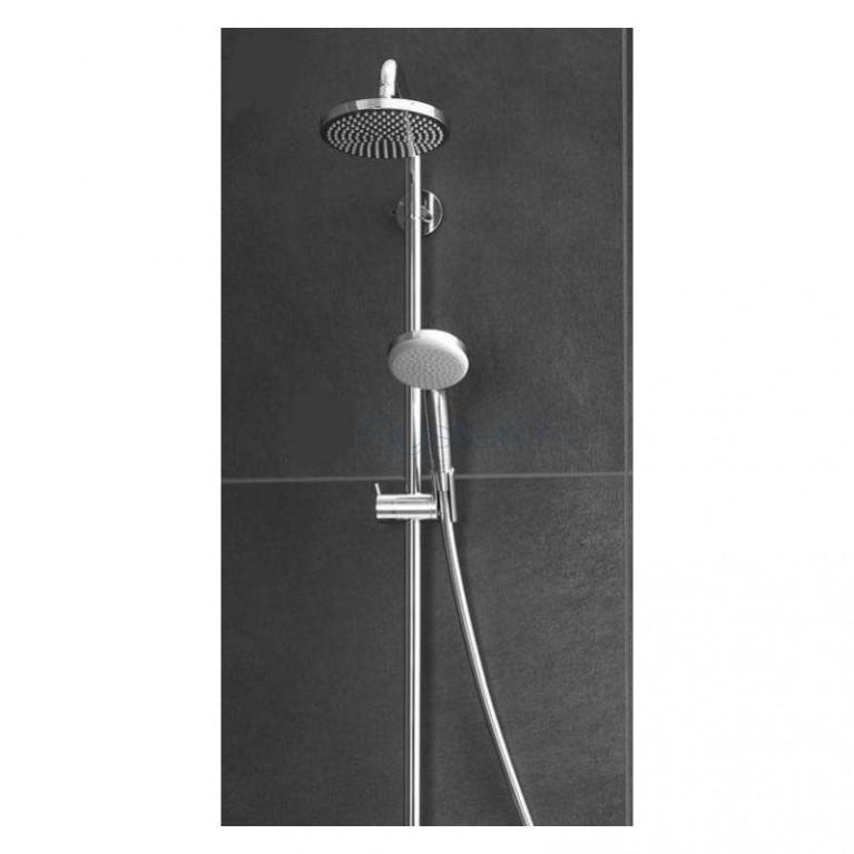 Croma 220 Showerpipe Душевая система + Logis Loop 100 Смеситель для раковины, однорычажный, со сливным гарнитуром, хром 27222000+71151000, фото 3
