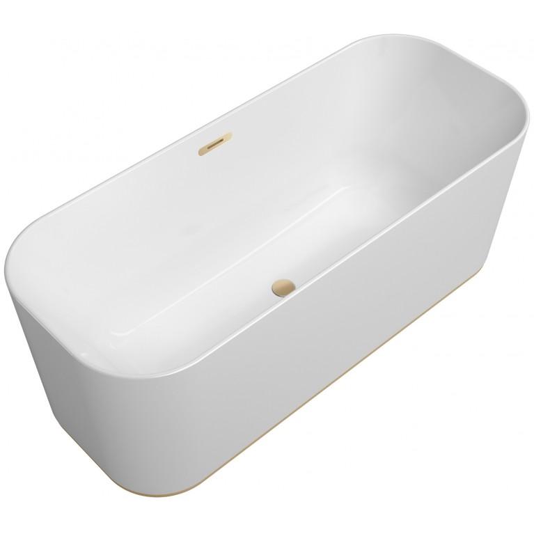 FINION ванна 170*70см, отдельностоящая, бесшовная, оснащение - шампань, ф-ии Emotion и ViSound, кольцо Design, цвет RAL 9011 (по запросу!), фото 1