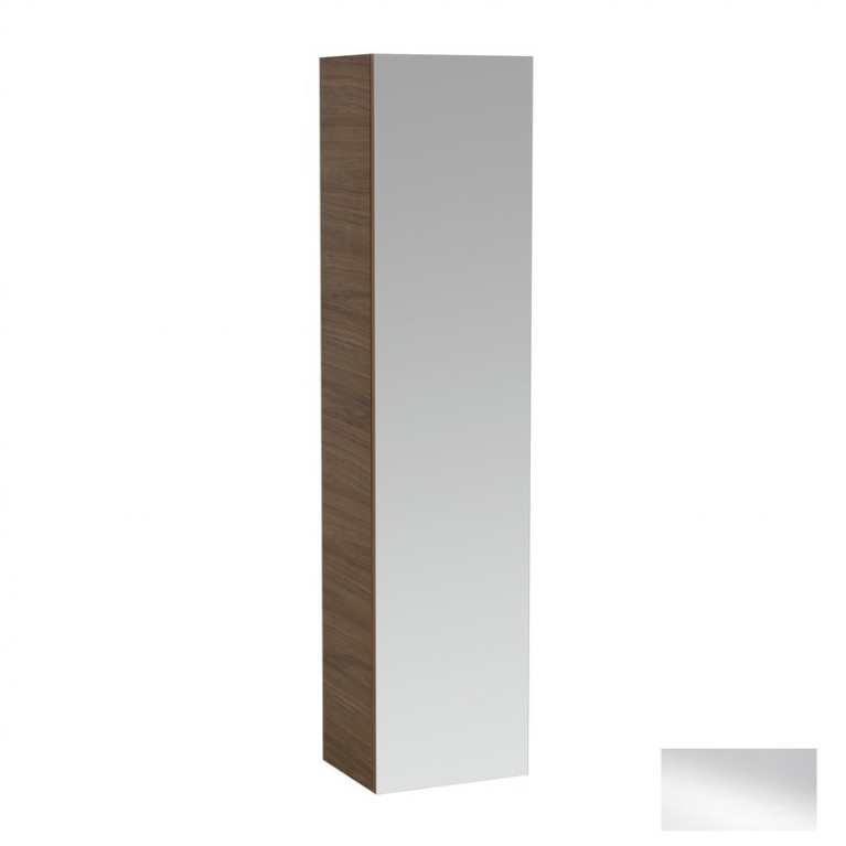 ALESSI ONE шкаф высокий 1700*400*300 мм с зеркалами с обеих сторон , правый, белый