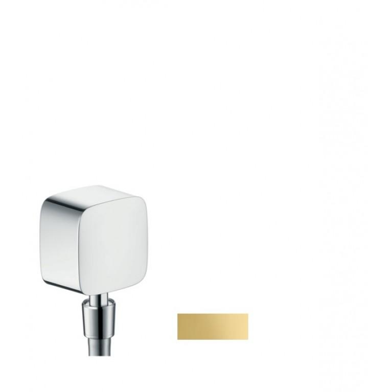 Fixfit Шланговое подсоединение ½' с защитой от обратного тока воды, цв. полированное золото