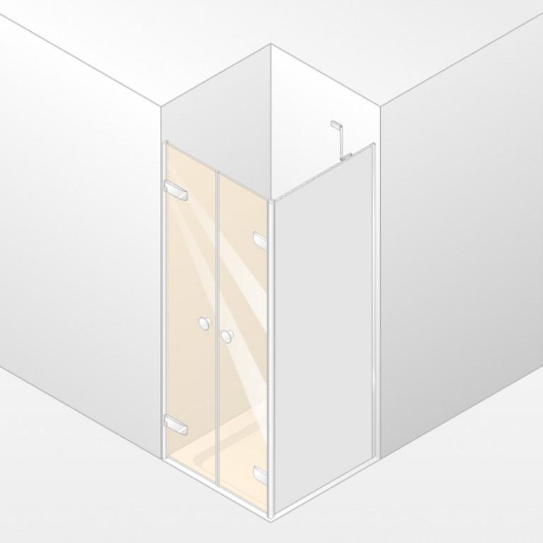 ENJOY ELEGANCE дверь двуст-ая 90*200см  (проф гл хр, стек проз), фото 1
