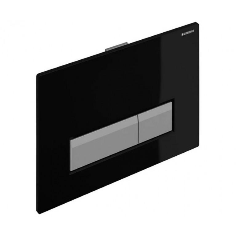Sigma40 Смывная клавиша, со встроенной системой удаления запаха, пластик, черный/алюминий