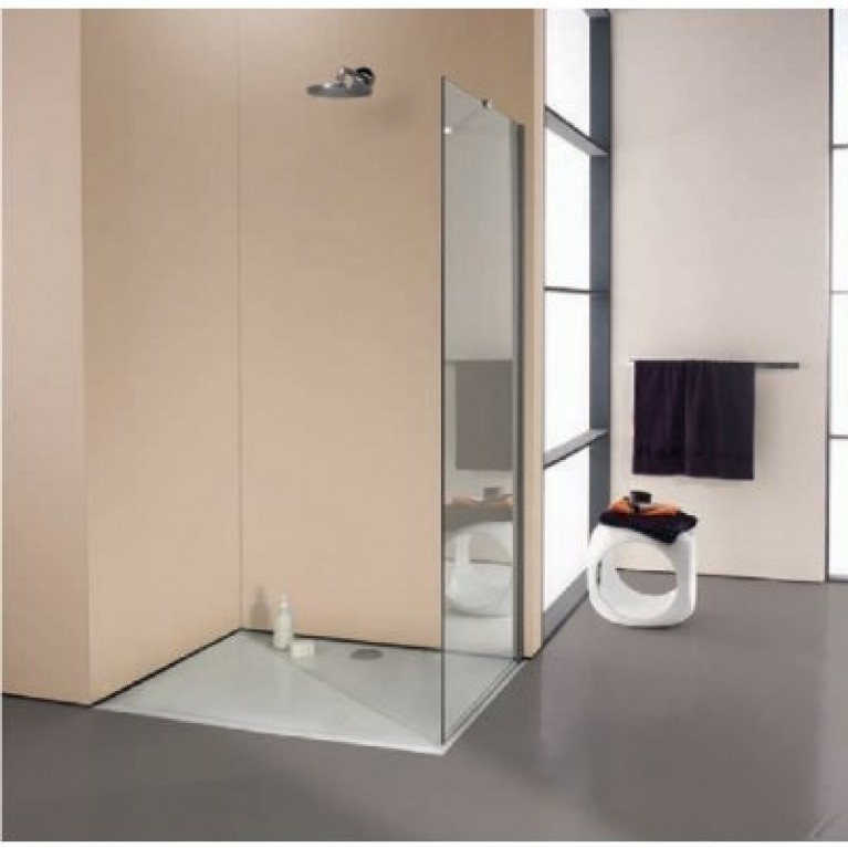 ENJOY ELEGANCE Стенка боковая для распаш. двери 100*200см. (стекло прозр Anti-Plague, профиль хром) 3T1104092322, фото 3