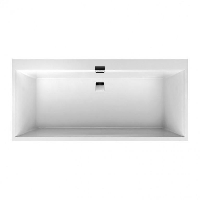SQUARO EDGE 12 ванна 190*90см, с ножками, с комплектом слив/перелив, белый альпин+ панель Profibox 2.0 alcove