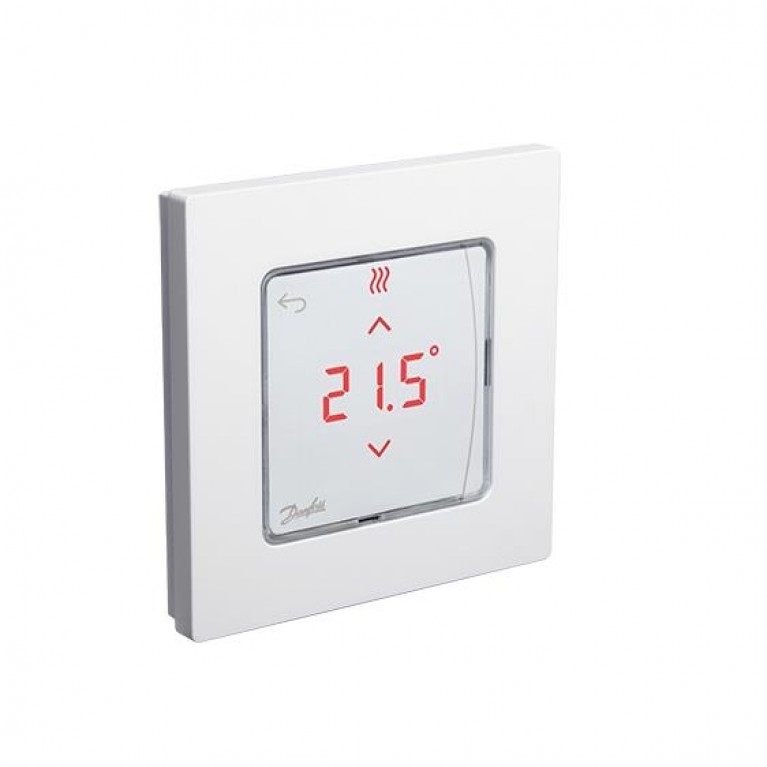 Danfoss Терморегулятор Icon RT Display In-Wall 0-40 °C, сенсорный, встраиваемый, 24V 088U1050, фото 2