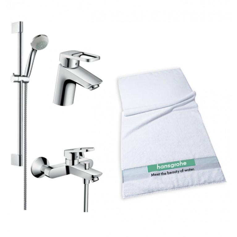 Logis Loop Набор смесителей для ванны, умывальник 70 (71150000+71244000+27728000)+полотенце, фото 1