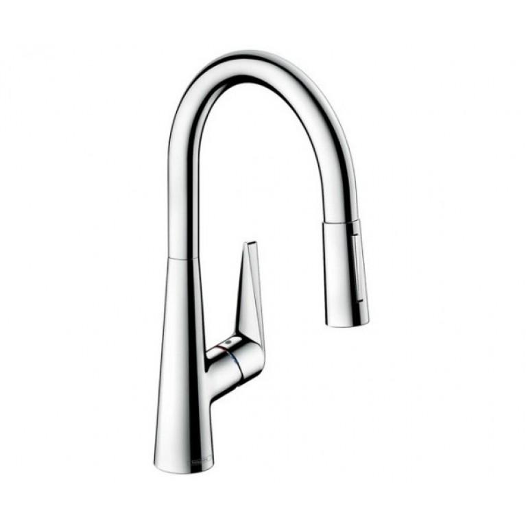 Talis S Смеситель для кухни, однорычажный, с выдвижной лейкой, цвет нержавеющая сталь