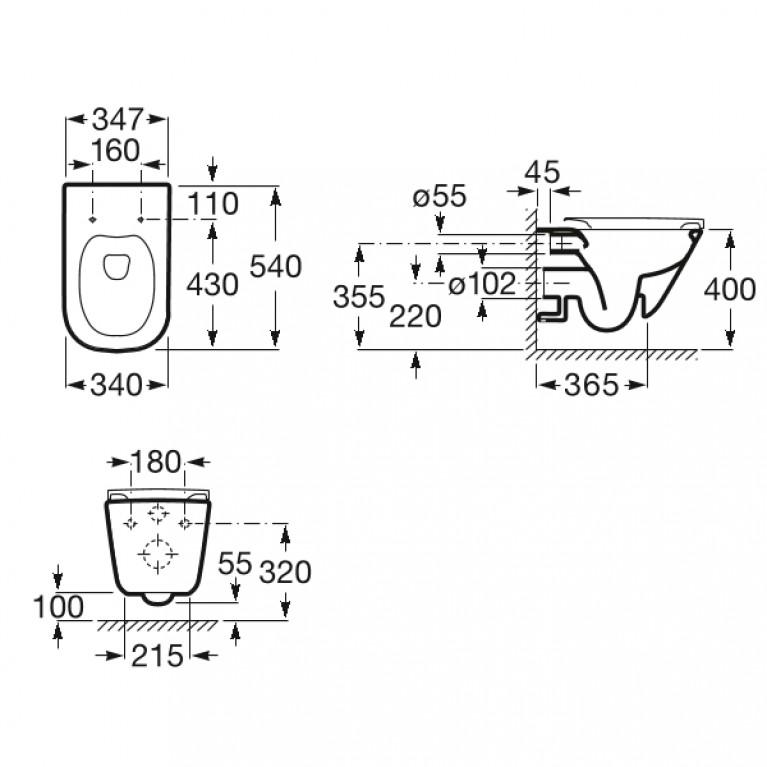 GAP Rimless унитаз подвесной с сиденьем Slim, slow-closing A34H470000, фото 3