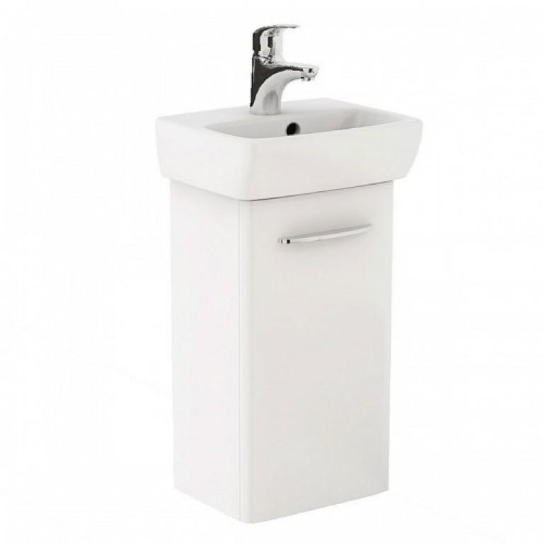 NOVA PRO комплект: умывальник 45 см + шкафчик белый глянец