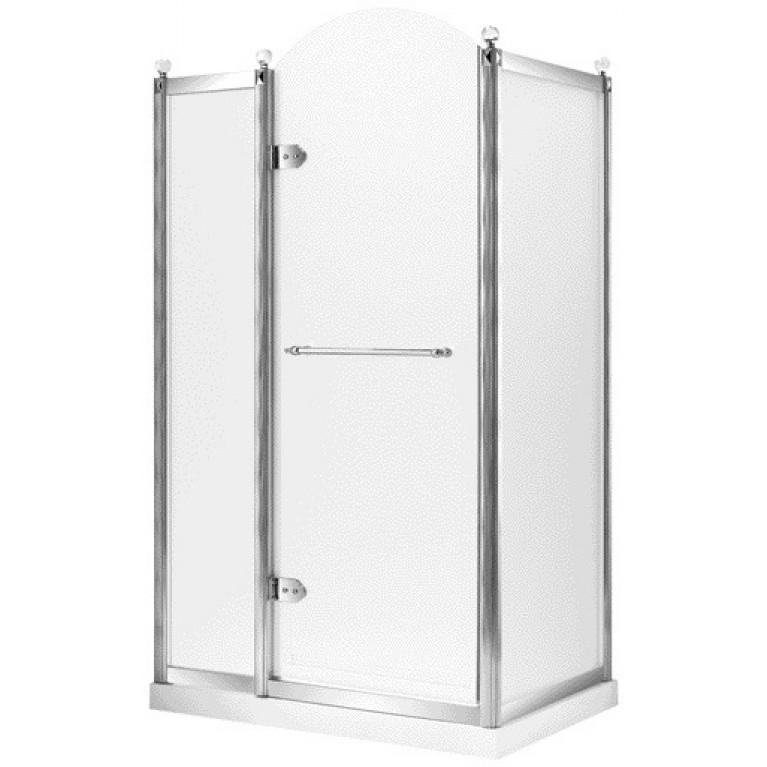 GRAND TENERIFE Silver Кабина с распашной дверью, в серебре, без поддона 1200*800*2000мм, левая, фото 1