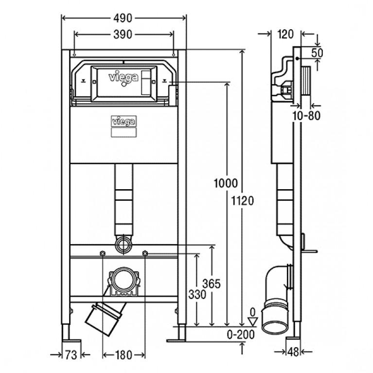 Prevista Dry элемент для унитаза 1120x490 мм 771973, фото 2
