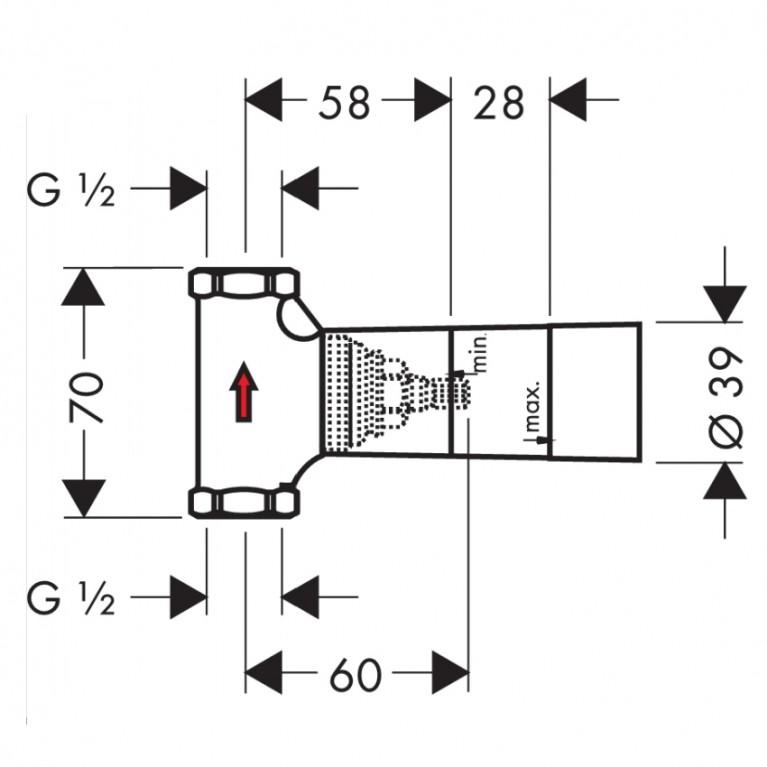 Hansgrohe Скрытая часть запорного вентиля шпиндельная, скрытый монтаж 15973180, фото 2