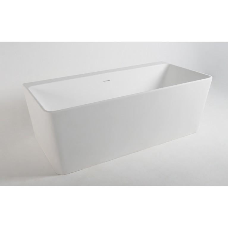 Ванна пристенная отдельностоящая каменная Solid surface 1650*800*590мм