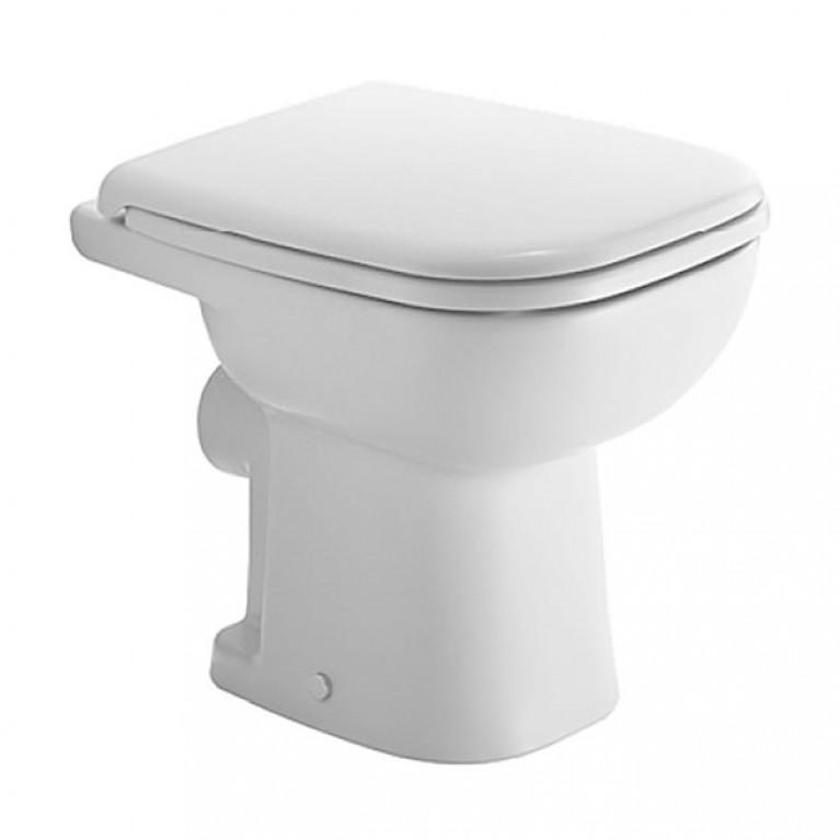 D-CODE унитаз 35*48см, напольный, для независимого подключения воды, с вертикальным смывом, включая крепление, сток горизонтальный