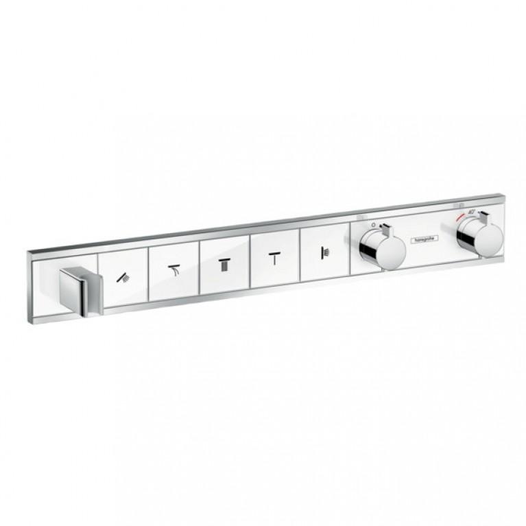 RainSelect Термостат с 5 кнопками, СМ, белый/хром, фото 1
