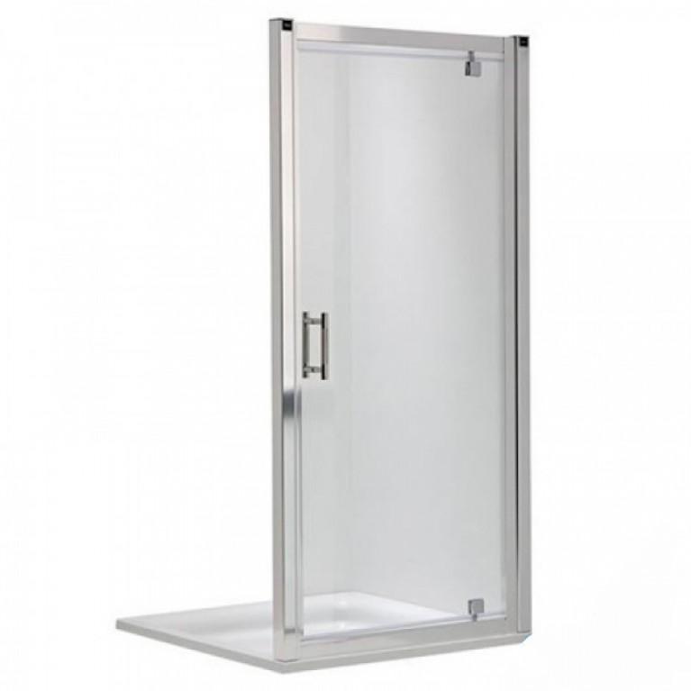 GEO 6 двери pivot, 80 см, закаленное стекло Prismatic, серебряный блеск, фото 1
