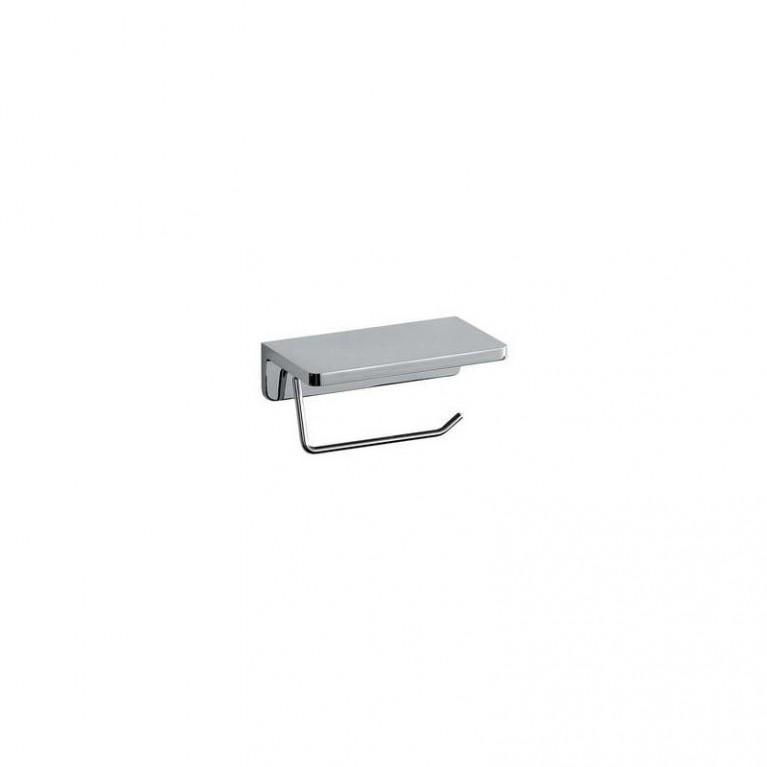 LB3 держатель туалетной бумаги с полкой, хром