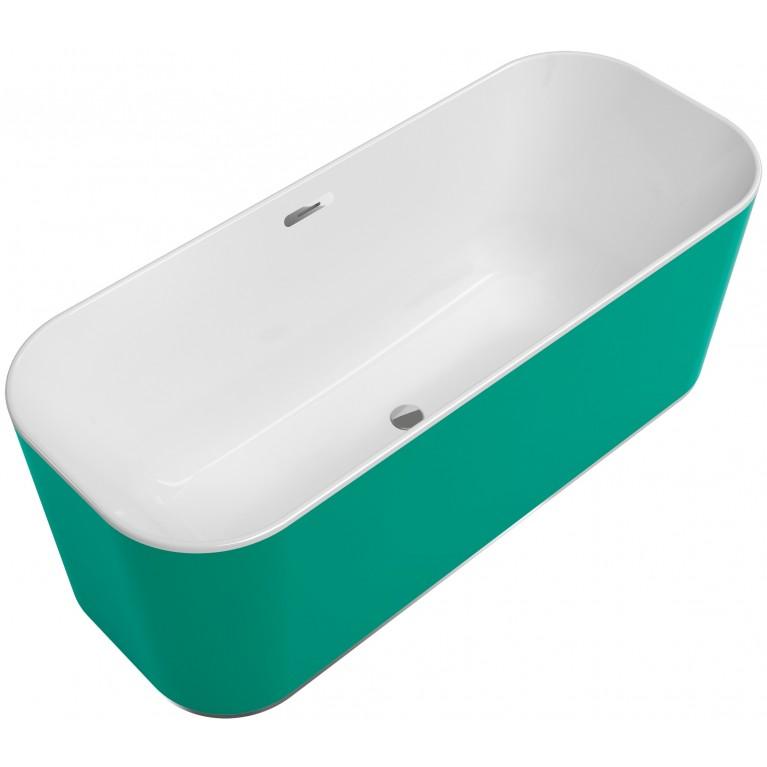 FINION ванна 170*70см, отдельностоящая, бесшовная, оснащение хром, ф-ии Emotion и ViSound, кольцо Design, цвет RAL9011, матовое покрытие (по запросу!), фото 1