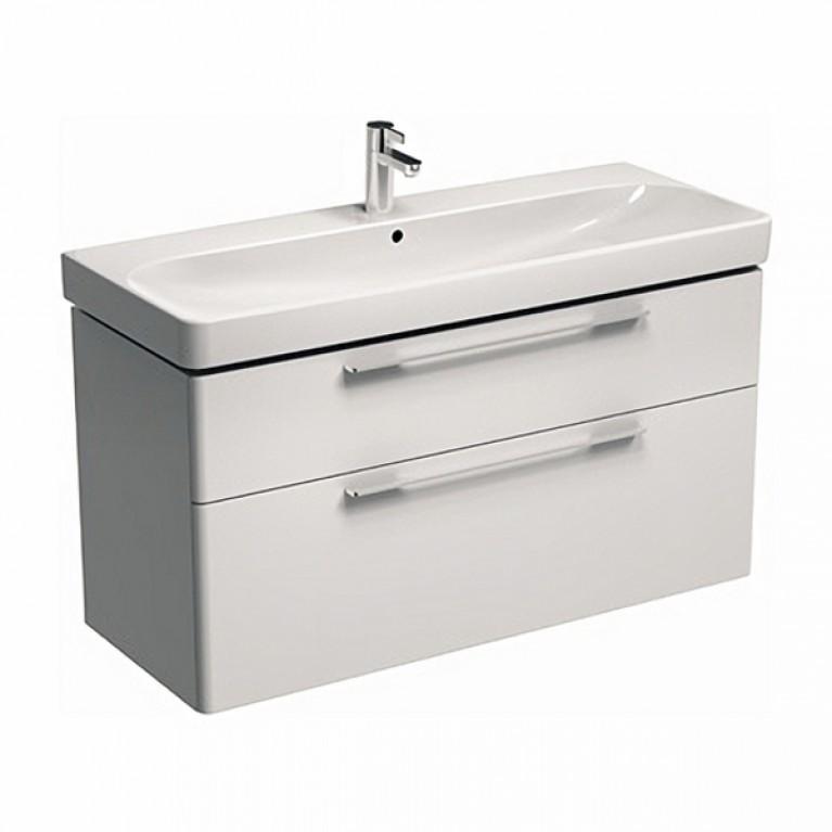 TRAFFIC шкафчик под умывальник 116,8*62,5*46,1 см,белый глянец(пол.), фото 1