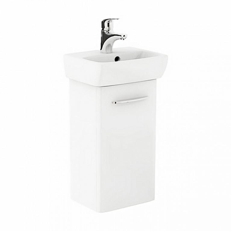 NOVA PRO комплект: умывальник 36см прямоугольный + шкафчик для умывальника белый глянец (пол)