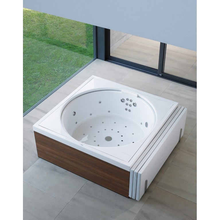 BLUE MOON ванна 140*140см, с системой гидромассажа Combi-System E, встраиваемая версия или версия с панелями, вкл. ножки, с переливом 760143000CE1000, фото 4