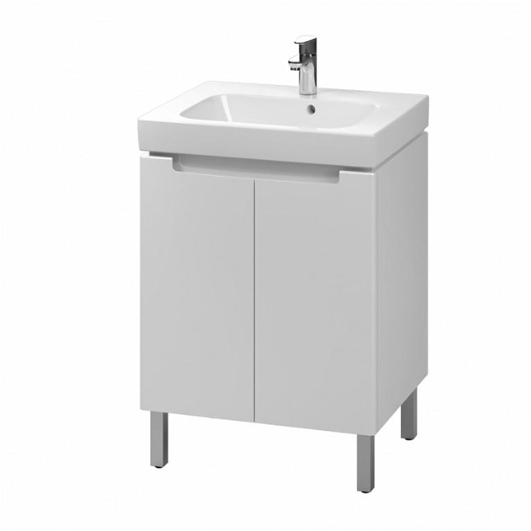 MODO комплект:шкафчик под умывальник 60 см+умывальник мебельный 60 см,белый (пол.), фото 1