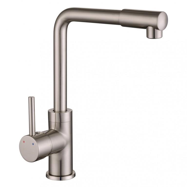 LOTTA смеситель для кухни, высокий нос, сатин, 35 мм