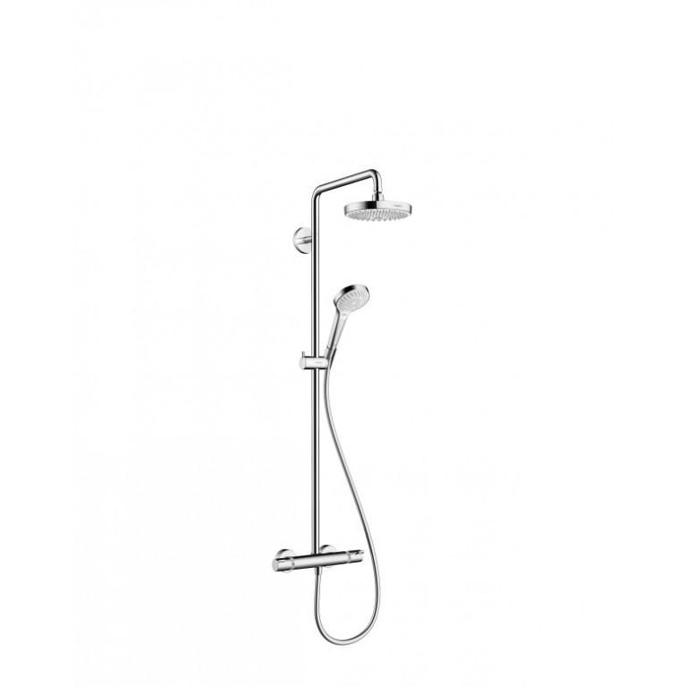 Croma Select S 180 2jet Showerpipe Душевая система поворотная с термостатом