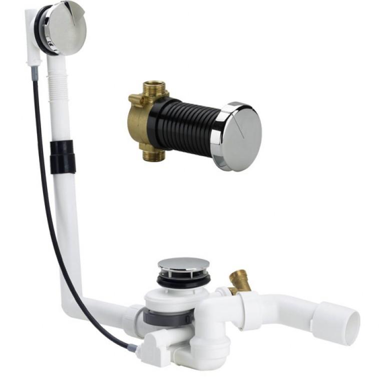 Сифон Multiplex Trio F M5 подача воды через нижний узел слива, 725мм (675462), фото 1
