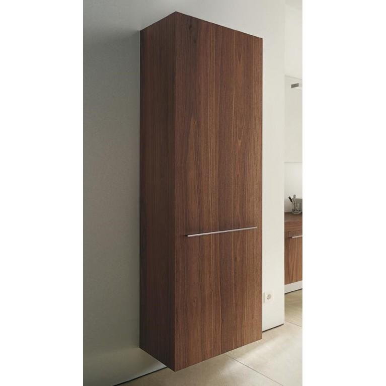 FOGO высокий шкаф 176*50см, левый, цвет американский орех, фото 1