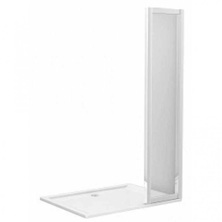 GEO 6 панель расширяющая 42 см, закаленное стекло, серебряный блеск, фото 1