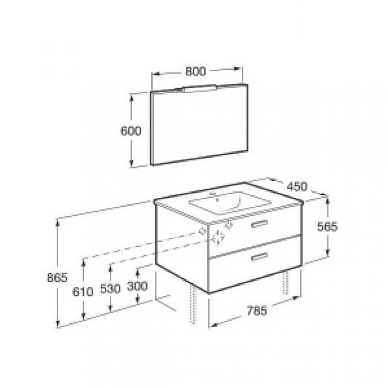 GAP тумба 80см, от мебельного комплекта A855998806 A856963806, фото 2