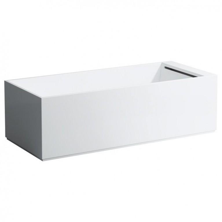 KARTELL ванна 1750*750*540мм, свободностоящая, с панелью, без системы массажа, с сенсорным упр. подсветки, с сифоном