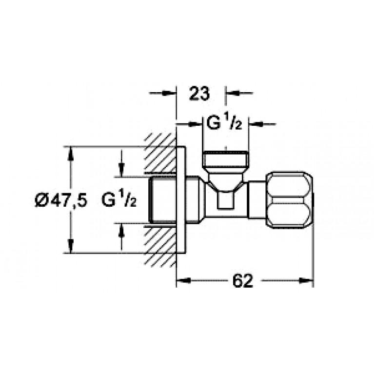 Grohe Угловой вентиль, универсальный, 1/2 (10штук) 2201600M, фото 2