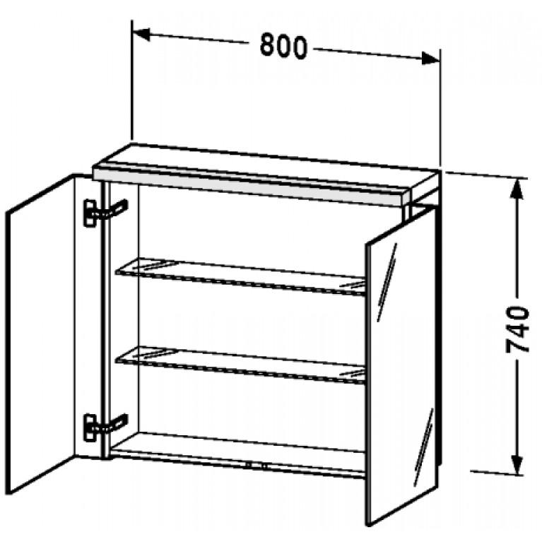 FOGO зеркальный шкафчик 80*74см, цвет белый мат FO967401818, фото 3