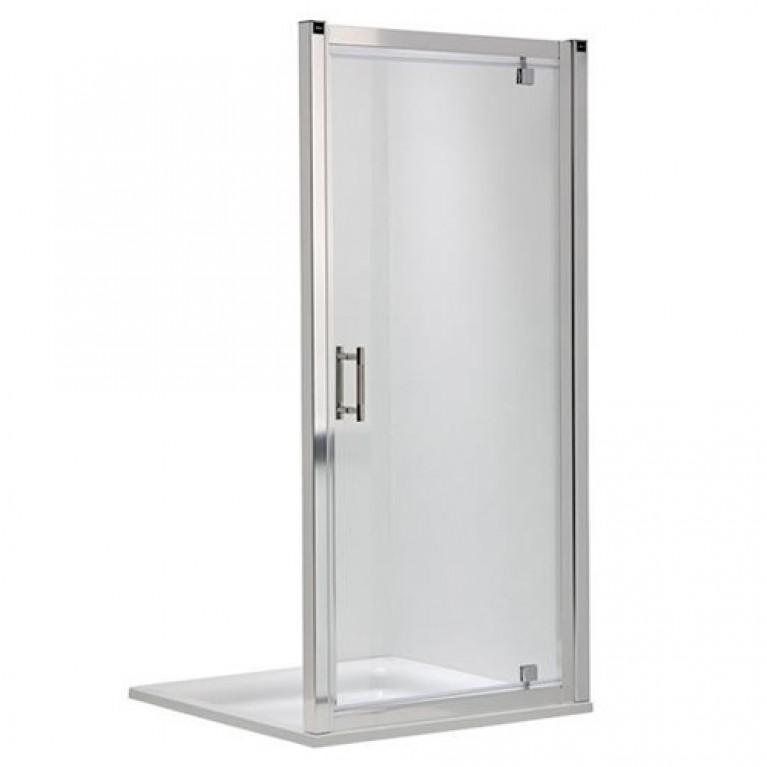 GEO 6 двери pivot 90см, закаленное стекло PRISMATIC, серебристый блеск, фото 1