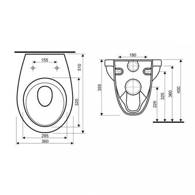 Комплект: IDOL унитаз подвесной, сидение с микролифтом M1310002U+458.126.00.1, фото 3