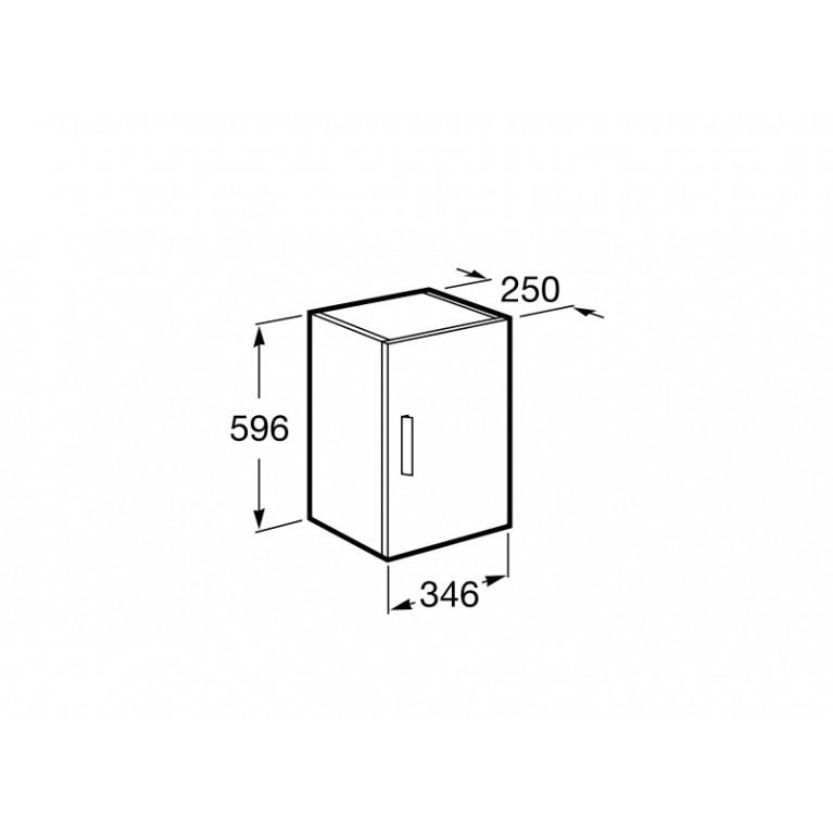 DEBBA тумба 59,6*34,6*25см, подвесная, с 1й дверцей, серый антрацит A856838153, фото 2