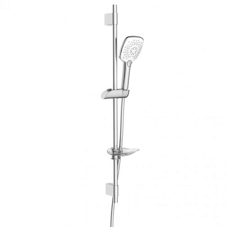 Штанга душевая L-80cm, ручной душ 3 режима, шланг, мыльница