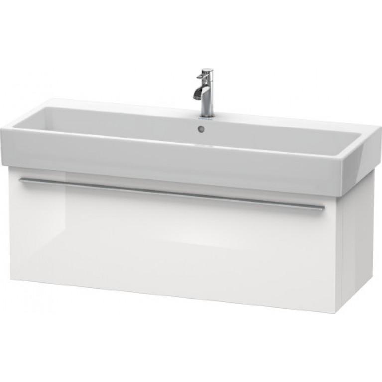 FOGO тумба 115*44,5/36,3см, подвесная, нешлифованный вариант, для раковины 045412, цвет белый глянец, фото 1