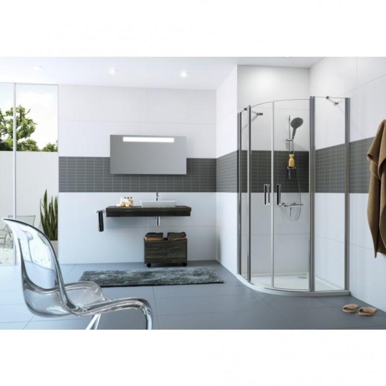 CLASSICS2 Дверь распашная, двустворчатая, с неподвижным сегментом 90*190см (серебро с ярким блеском прозрачное) C24002069321, фото 3
