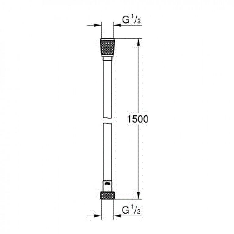 Silverflex Longlife  Душевой шланг 1,5 м, хром 26346000, фото 2